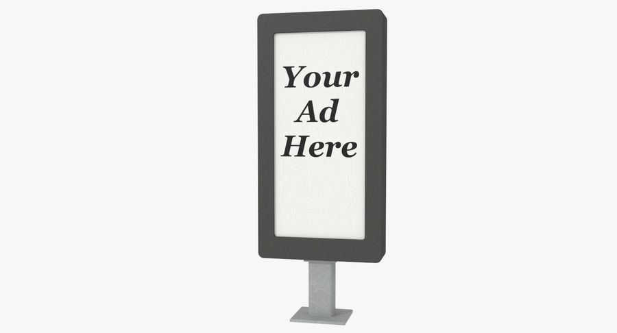 Znak reklamy ulicznej nr 1 royalty-free 3d model - Preview no. 2