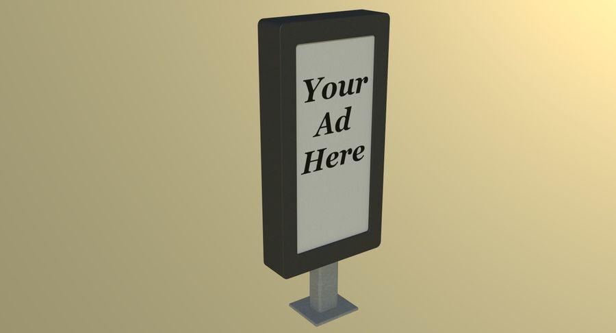Panneau de publicité de rue un royalty-free 3d model - Preview no. 4