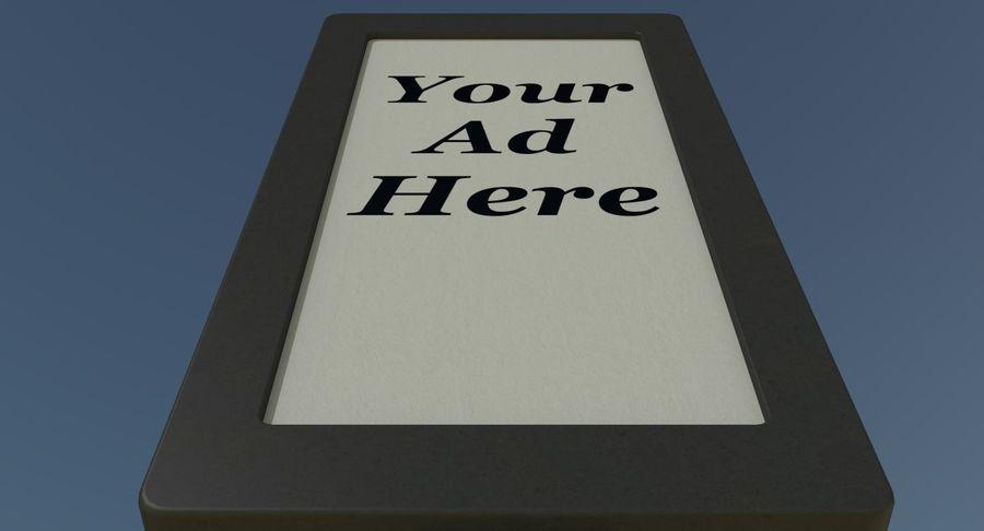 Znak reklamy ulicznej nr 1 royalty-free 3d model - Preview no. 7