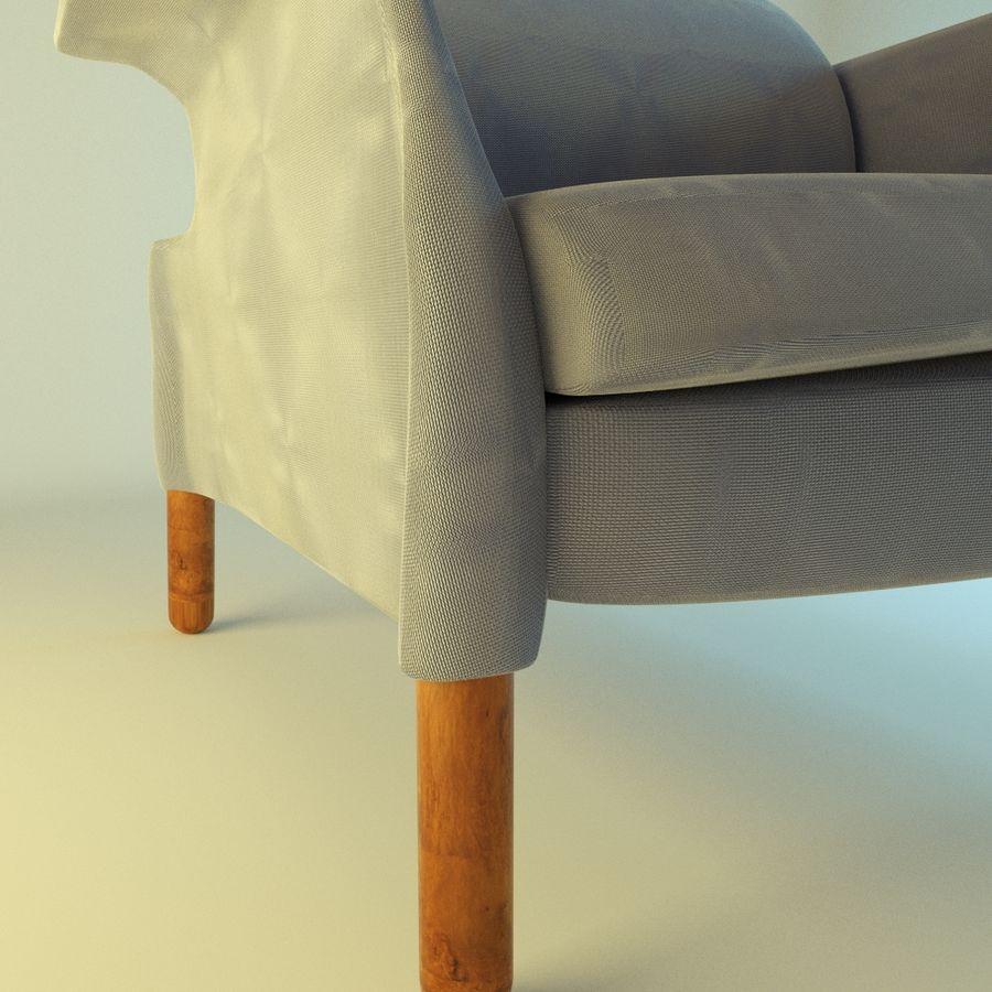 Fotel 19 niebieski royalty-free 3d model - Preview no. 4