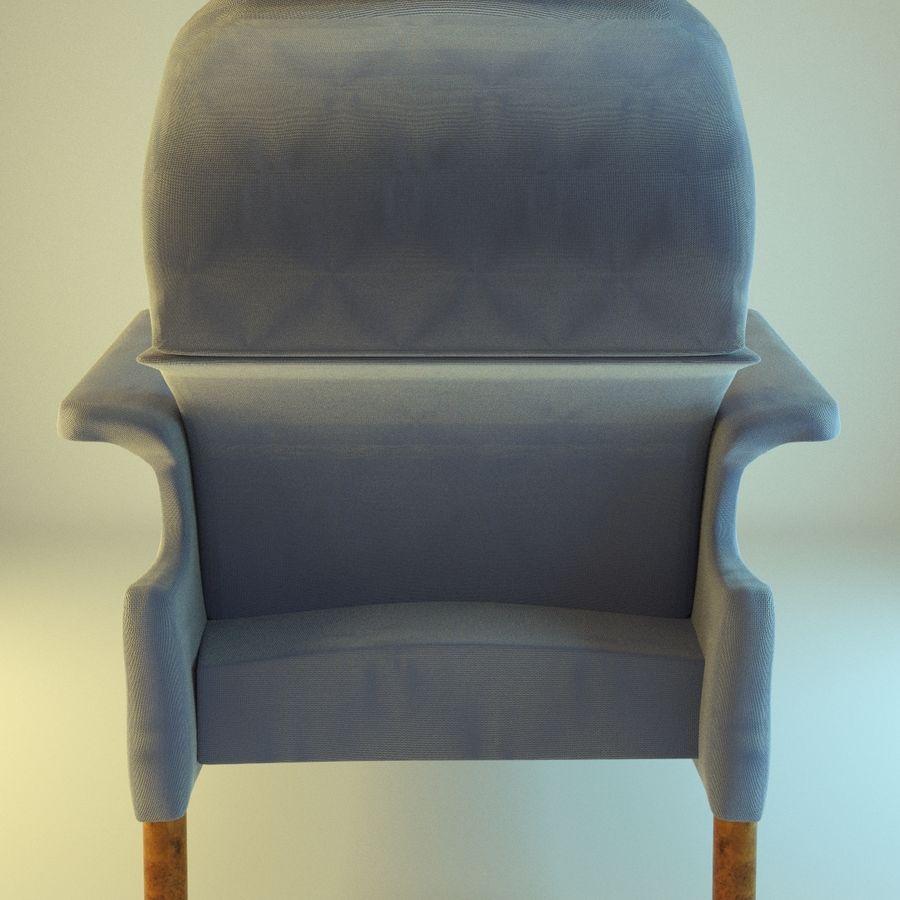 Fotel 19 niebieski royalty-free 3d model - Preview no. 3
