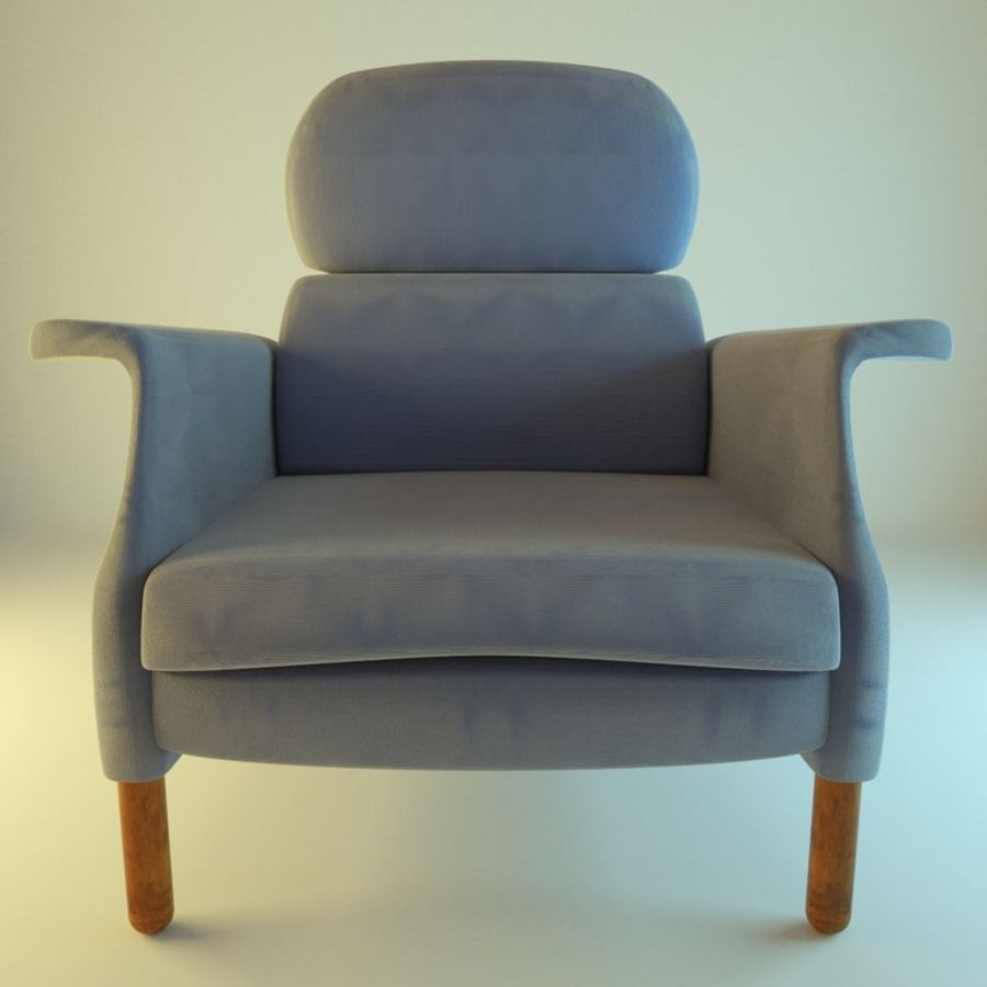 Fotel 19 niebieski royalty-free 3d model - Preview no. 1