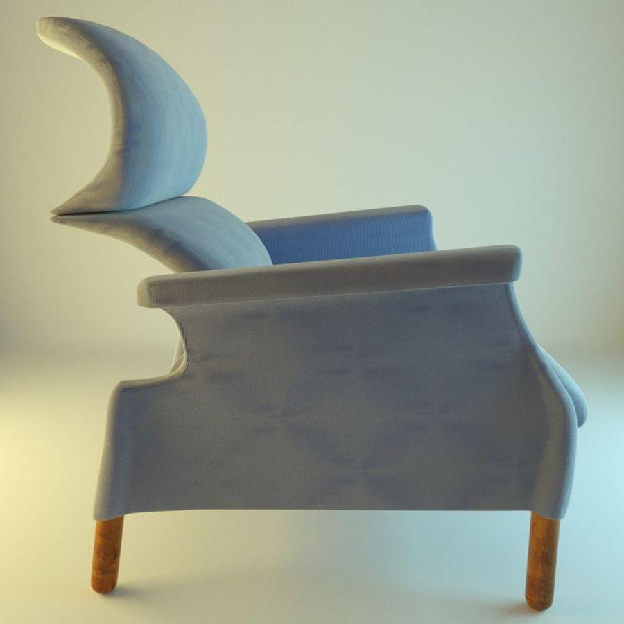Fotel 19 niebieski royalty-free 3d model - Preview no. 2