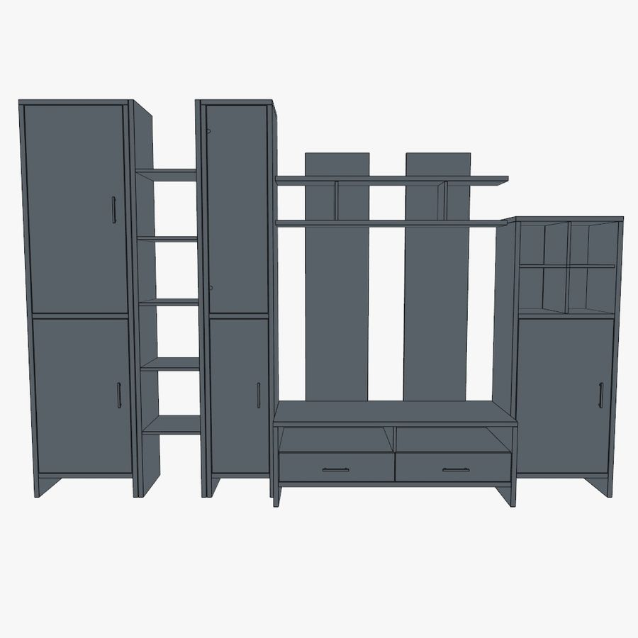 Living room furniture royalty-free 3d model - Preview no. 8