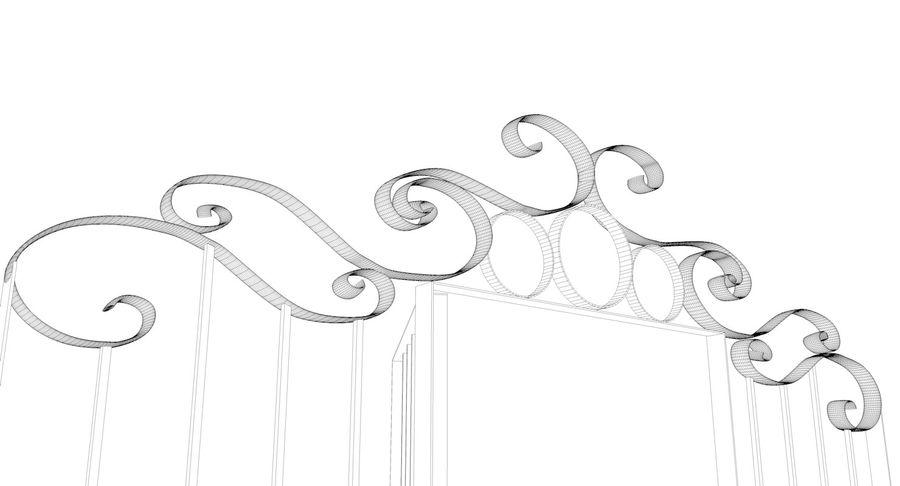 Portão da cerca de ferro royalty-free 3d model - Preview no. 6