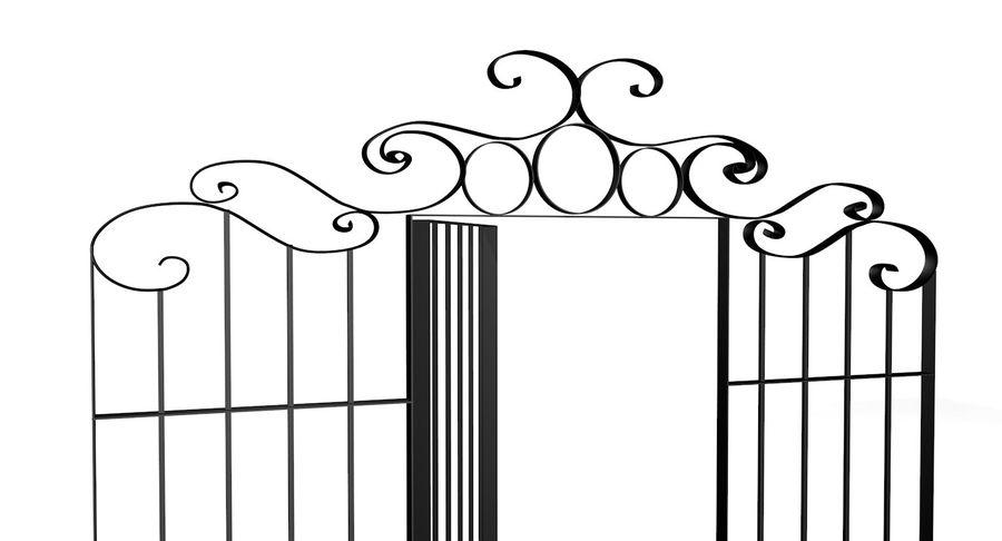 Portão da cerca de ferro royalty-free 3d model - Preview no. 3