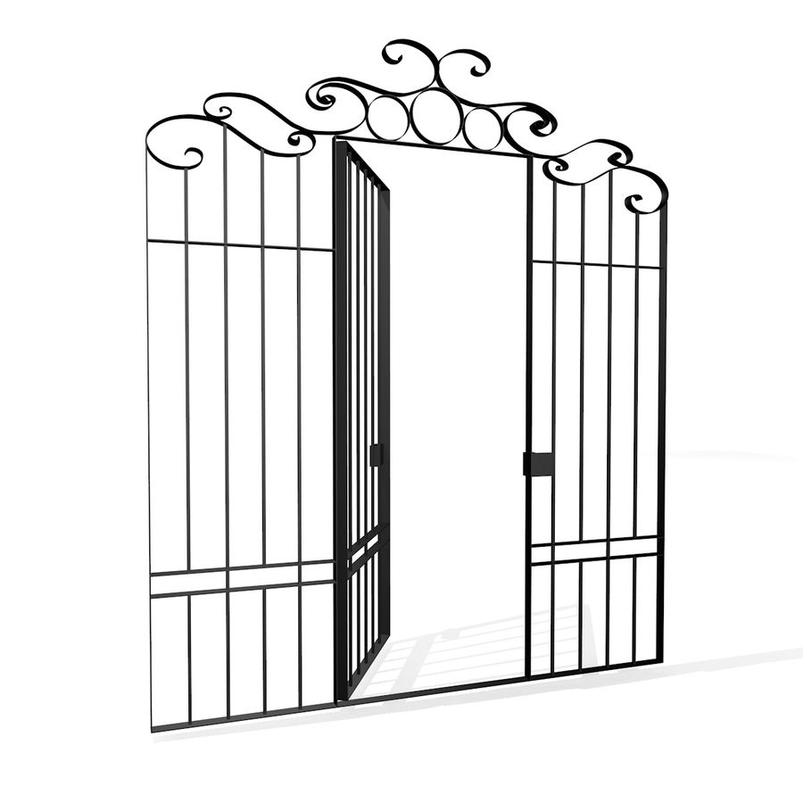 Portão da cerca de ferro royalty-free 3d model - Preview no. 1