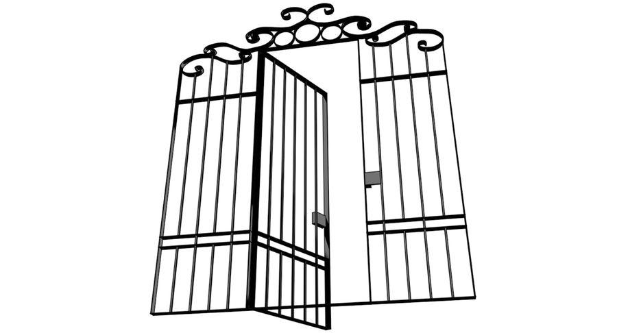 Portão da cerca de ferro royalty-free 3d model - Preview no. 7