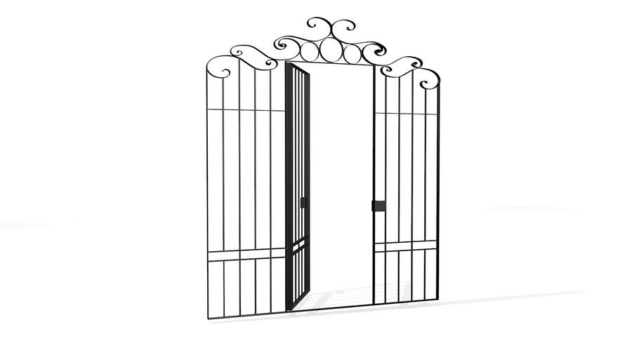 Portão da cerca de ferro royalty-free 3d model - Preview no. 2