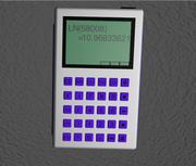 Стильный калькулятор 3d model
