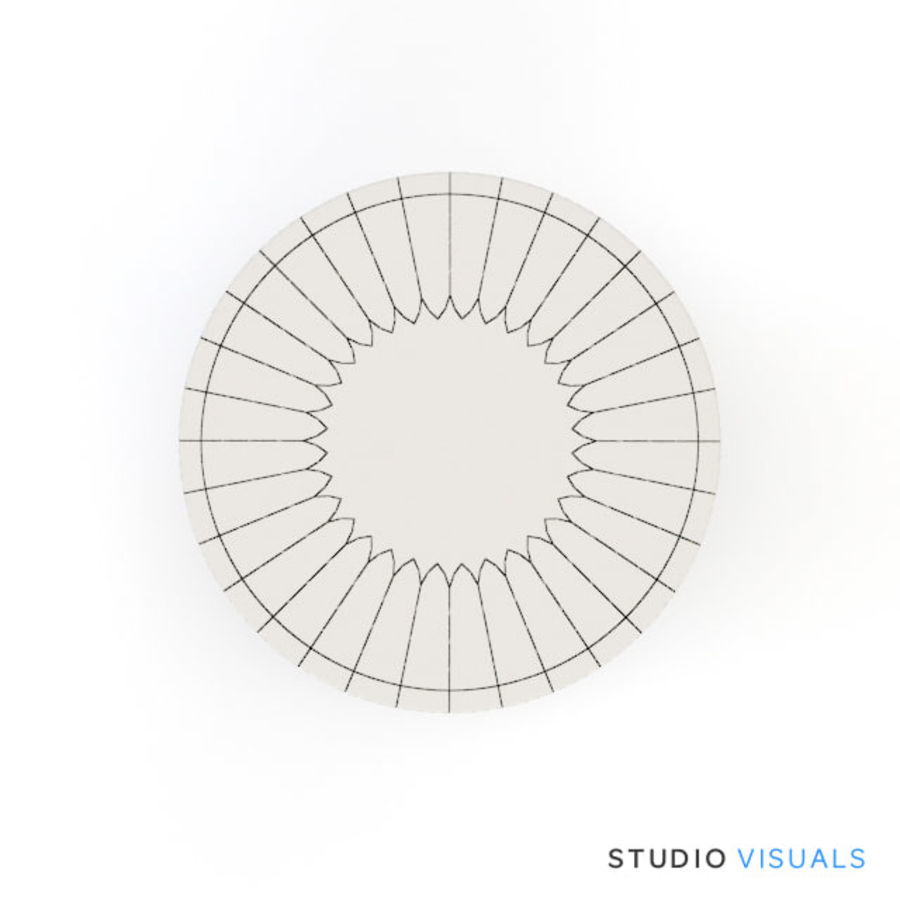 Camille Table VR royalty-free 3d model - Preview no. 6
