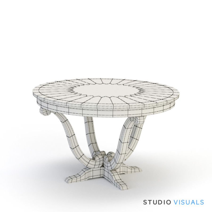 Camille Table VR royalty-free 3d model - Preview no. 4