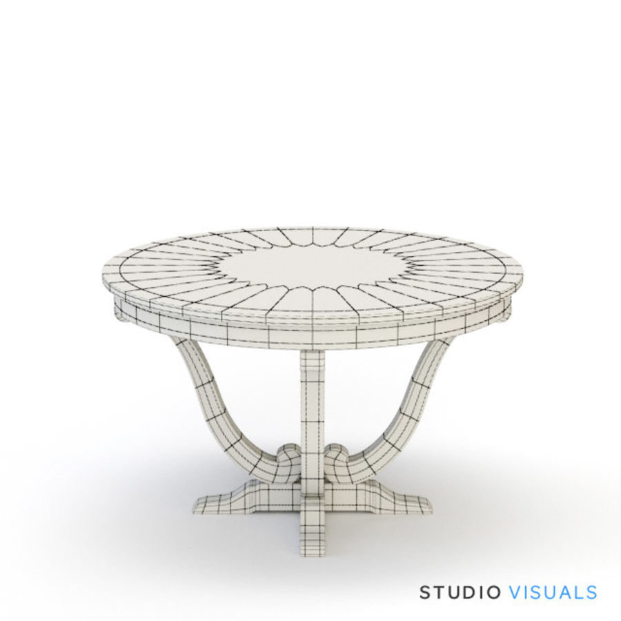 Camille Table VR royalty-free 3d model - Preview no. 2
