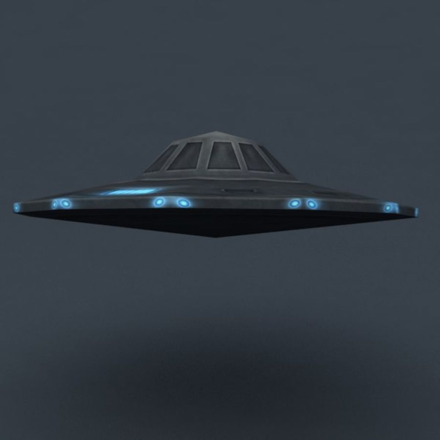 UFO royalty-free 3d model - Preview no. 2