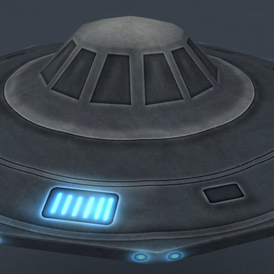 UFO royalty-free 3d model - Preview no. 7