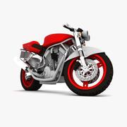 铃木街头霸王摩托车 3d model