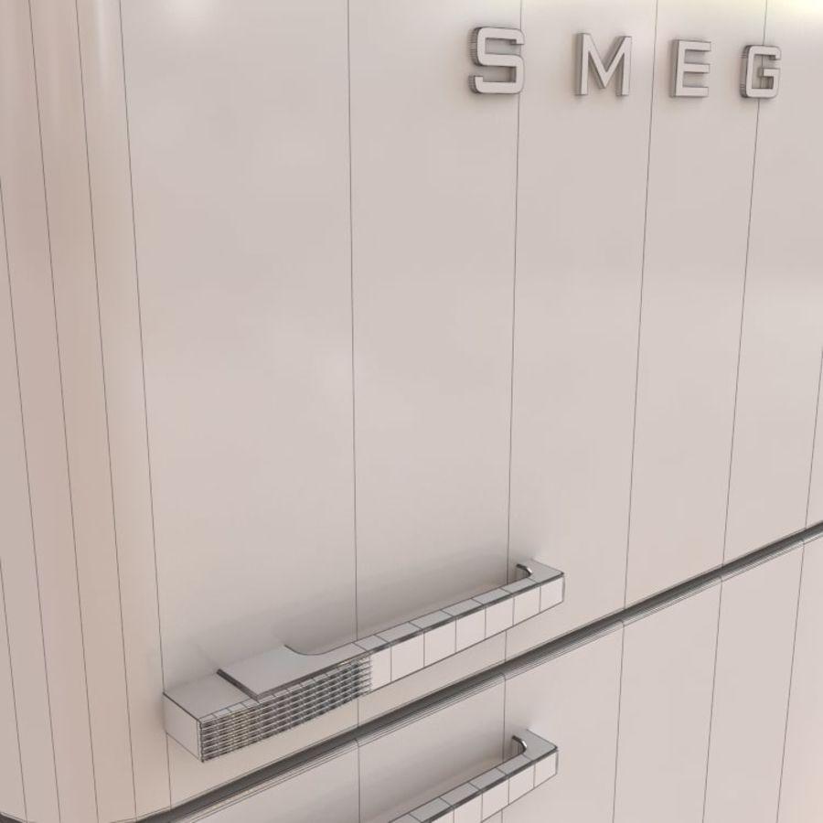 SMEG fridge royalty-free 3d model - Preview no. 6