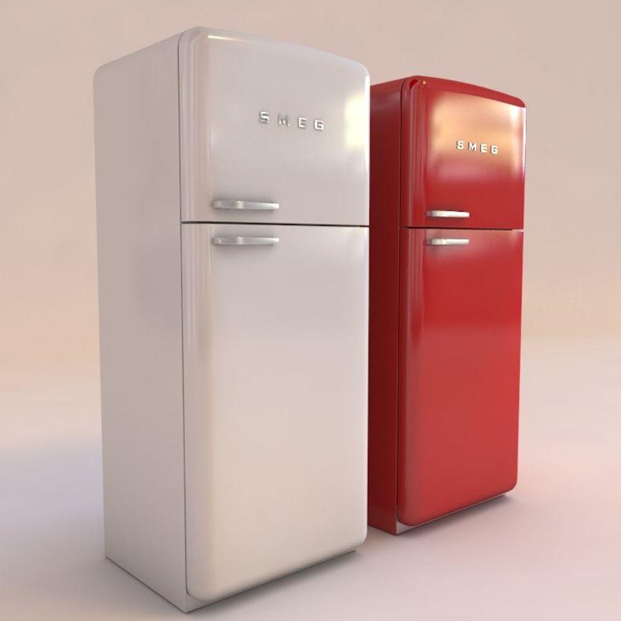 SMEG fridge royalty-free 3d model - Preview no. 1