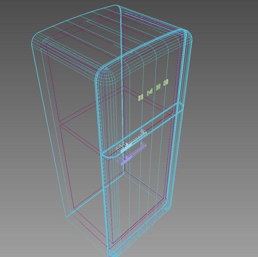 SMEG fridge royalty-free 3d model - Preview no. 7