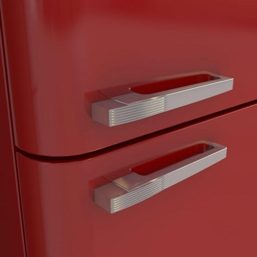 SMEG fridge royalty-free 3d model - Preview no. 3