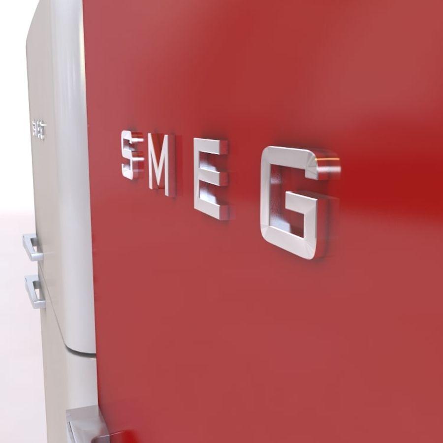 SMEG fridge royalty-free 3d model - Preview no. 4