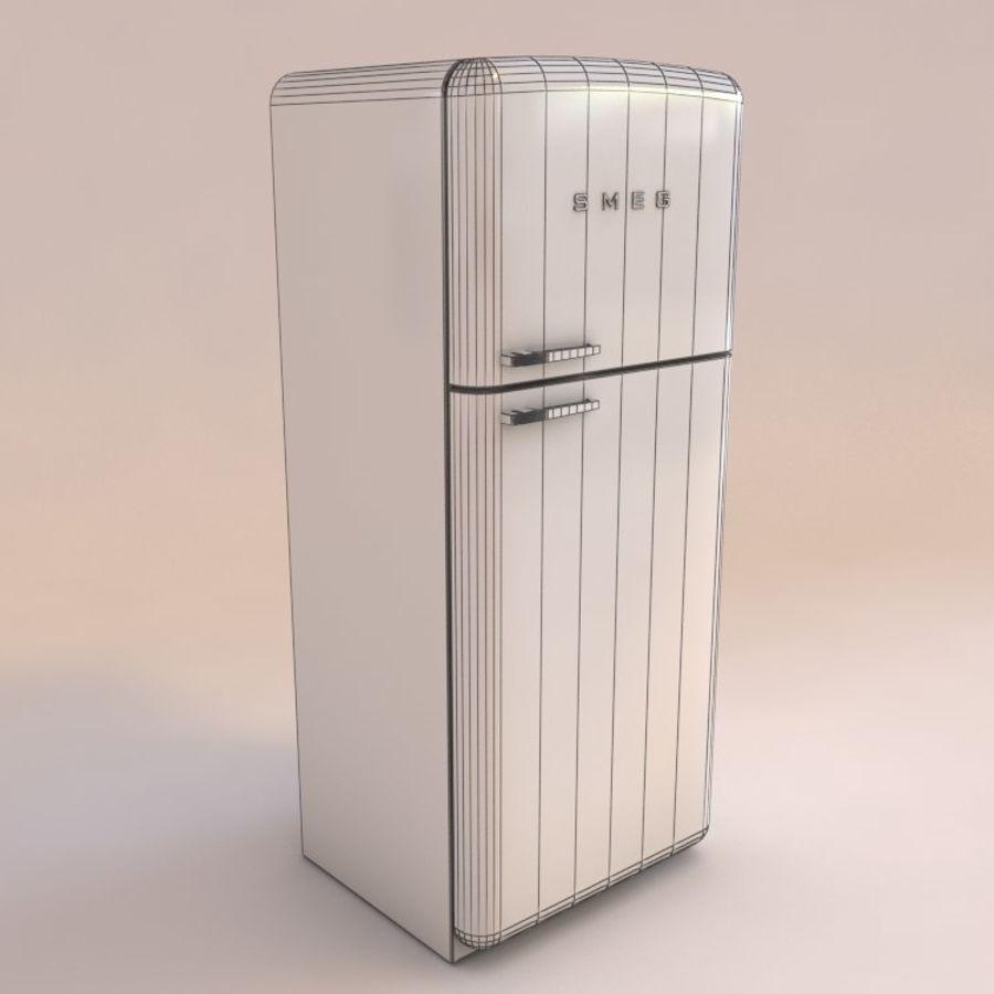 SMEG fridge royalty-free 3d model - Preview no. 5