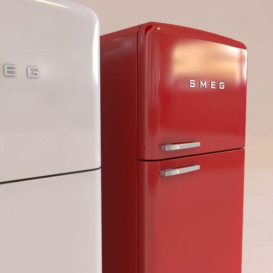 SMEG fridge royalty-free 3d model - Preview no. 2