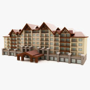 Hôtel 3d model