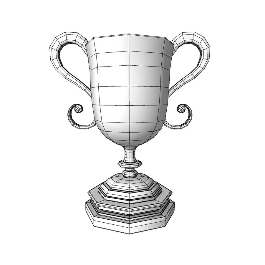 Awards Trophies 91 royalty-free 3d model - Preview no. 7