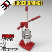 3D榨汁机橙色模型 3d model