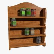Spice Rack With Spices 3d model