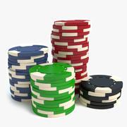 Фишки для покера 3d model