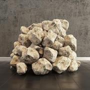 Stone meteor 3d model