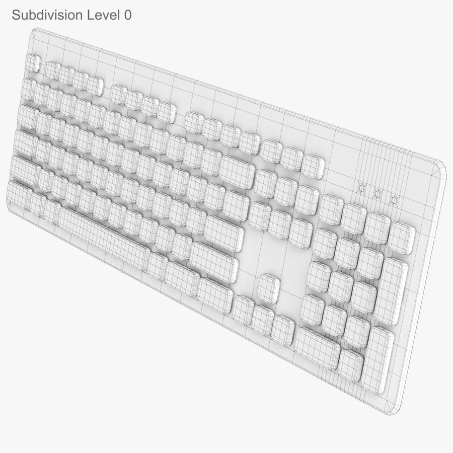 Logitech Washable Keyboard K310 royalty-free 3d model - Preview no. 20