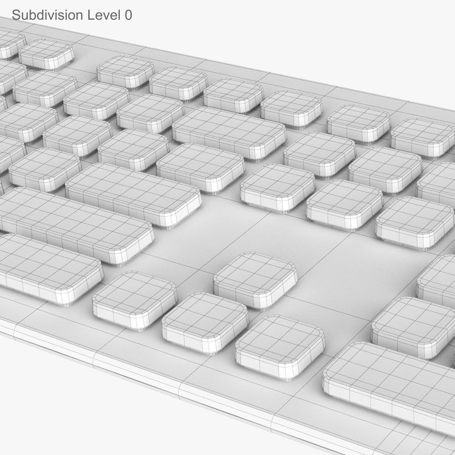Logitech Washable Keyboard K310 royalty-free 3d model - Preview no. 23