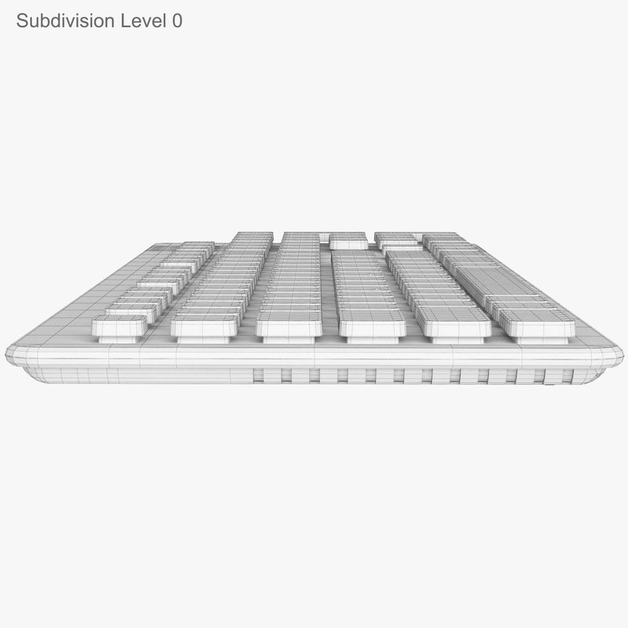 Logitech Washable Keyboard K310 royalty-free 3d model - Preview no. 29