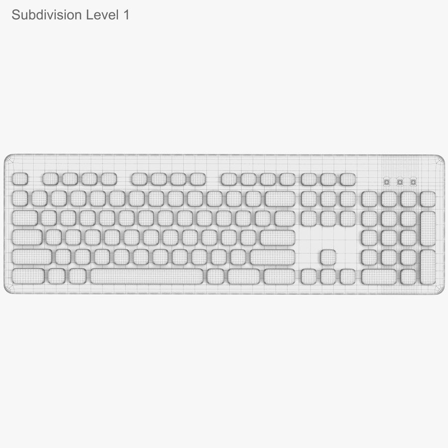 Logitech Washable Keyboard K310 royalty-free 3d model - Preview no. 44