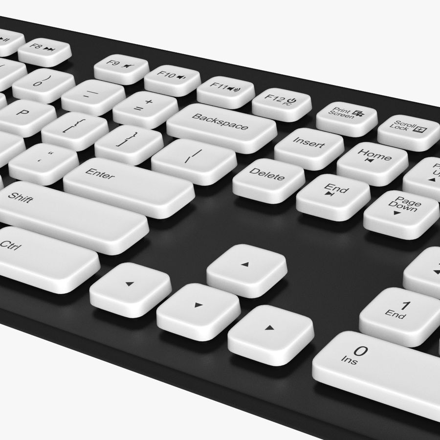 Logitech Washable Keyboard K310 royalty-free 3d model - Preview no. 8