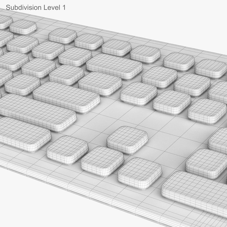 Logitech Washable Keyboard K310 royalty-free 3d model - Preview no. 39
