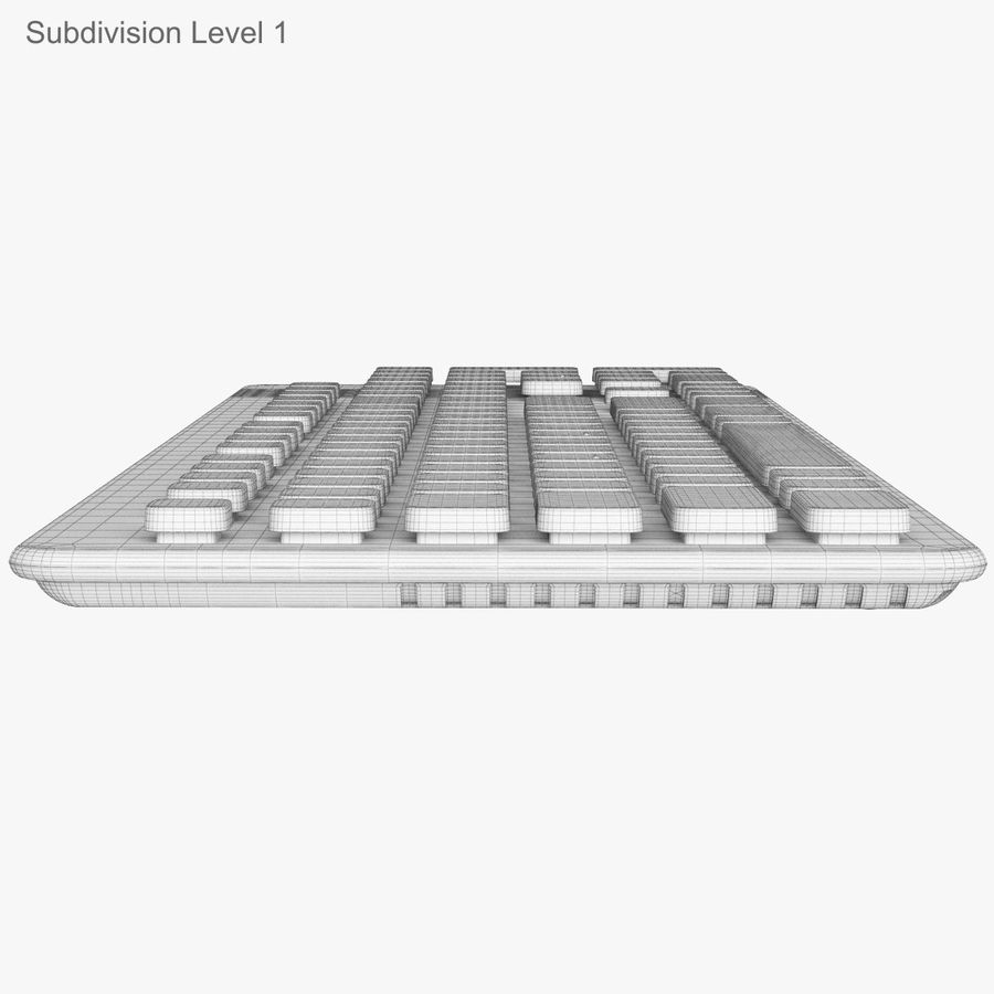 Logitech Washable Keyboard K310 royalty-free 3d model - Preview no. 45