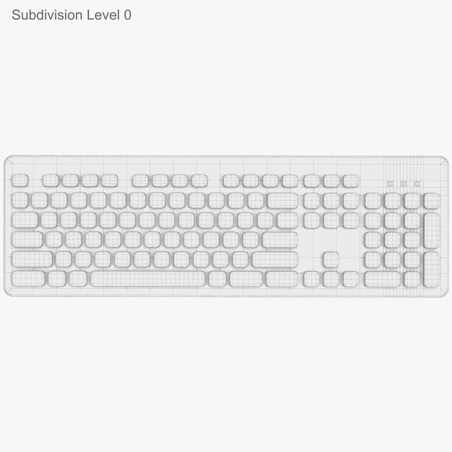 Logitech Washable Keyboard K310 royalty-free 3d model - Preview no. 28