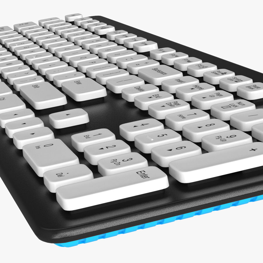 Logitech Washable Keyboard K310 royalty-free 3d model - Preview no. 12