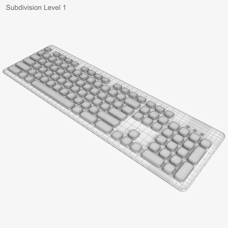 Logitech Washable Keyboard K310 royalty-free 3d model - Preview no. 32