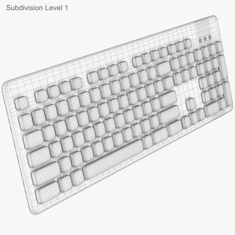 Logitech Washable Keyboard K310 royalty-free 3d model - Preview no. 38