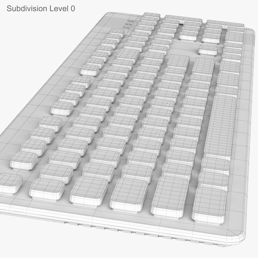 Logitech Washable Keyboard K310 royalty-free 3d model - Preview no. 25