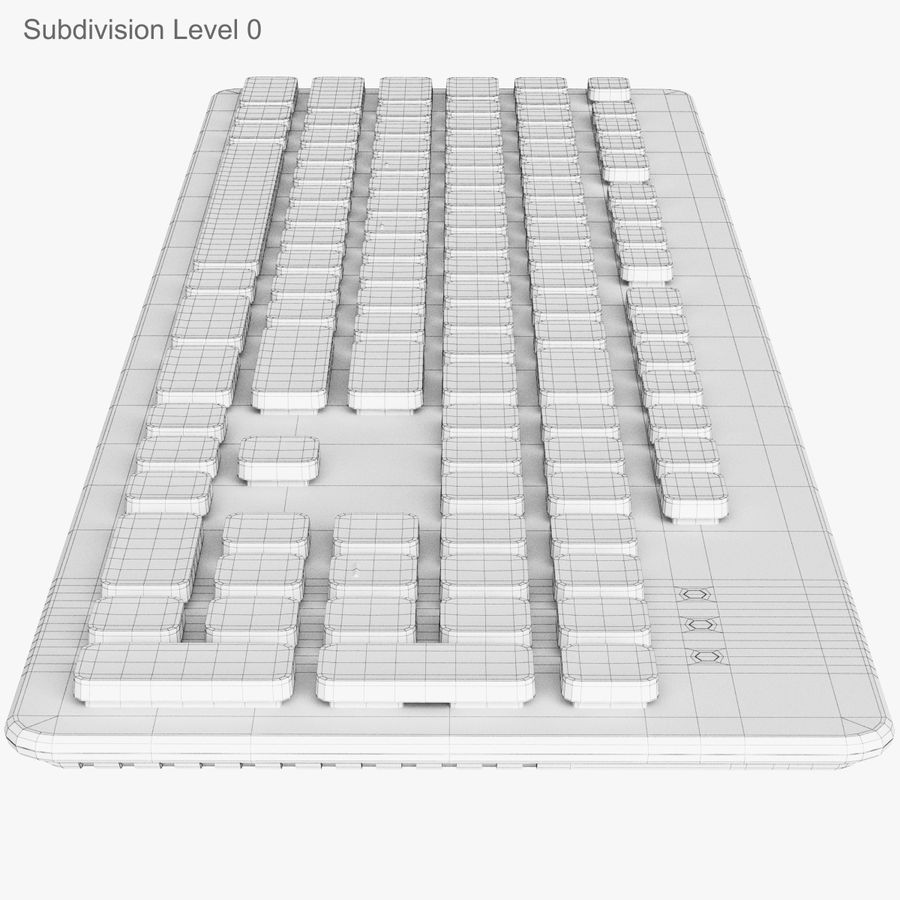 Logitech Washable Keyboard K310 royalty-free 3d model - Preview no. 21