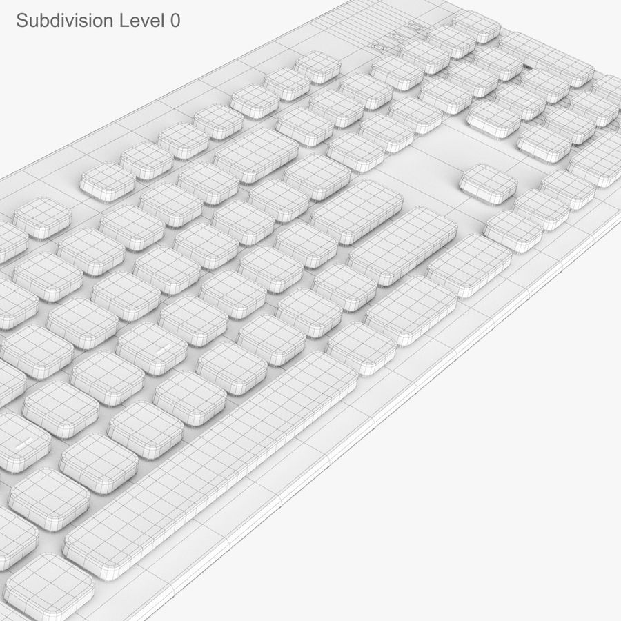 Logitech Washable Keyboard K310 royalty-free 3d model - Preview no. 26