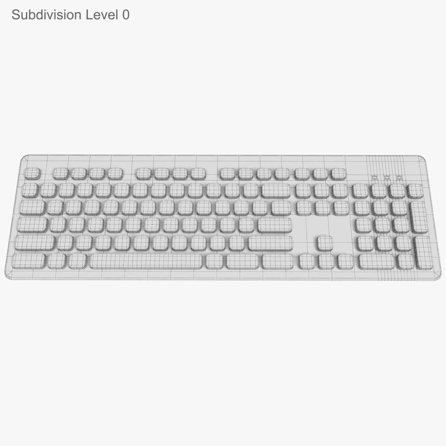 Logitech Washable Keyboard K310 royalty-free 3d model - Preview no. 18