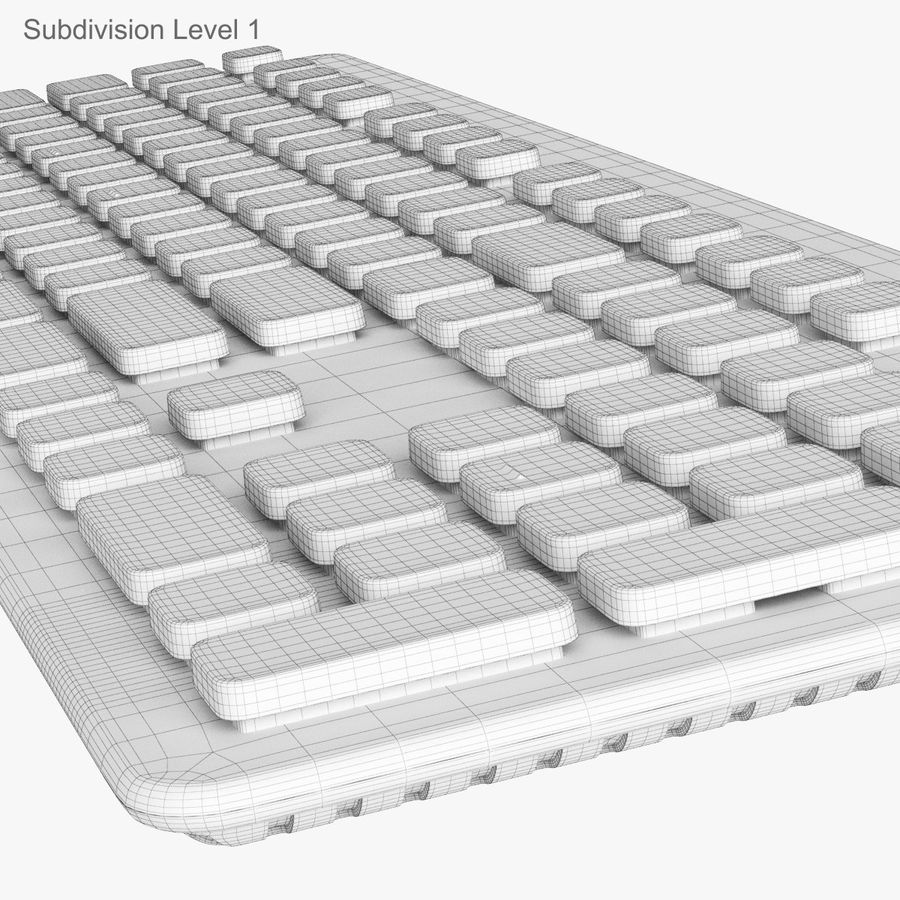 Logitech Washable Keyboard K310 royalty-free 3d model - Preview no. 43