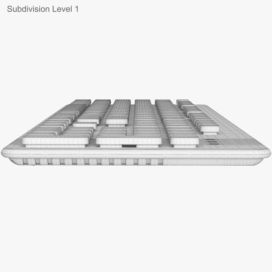 Logitech Washable Keyboard K310 royalty-free 3d model - Preview no. 46